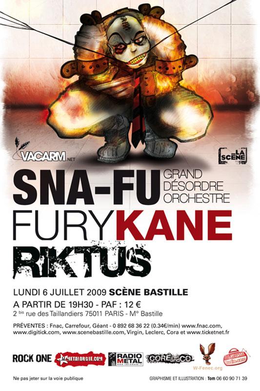 6 juillet - SNA FU + FURYKANE + RIKTUS - La Scène Bastille Flyer_snafu_riktus_furykane_6juillet